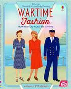 Couverture du livre « Historical sticker dolly dressing ; wartime fashion » de Rosie Hore et Elena Selivanova aux éditions Usborne