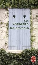 Couverture du livre « Une promesse » de Sorj Chalandon aux éditions Lgf