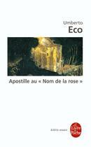 Couverture du livre « Apostille au nom de la rose » de Umberto Eco aux éditions Lgf