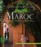 Couverture du livre « Maroc ; Essaouira, Haut-Atlas, Marrakech » de Jean-Denis Joubert aux éditions Palantines