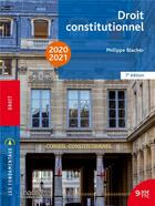 Couverture du livre « Droit constitutionnel (édition 2020/2021) » de Philippe Blacher aux éditions Hachette Education