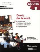 Couverture du livre « Droit du travail (3e édition) » de Francois Dumont et Bernard Bossu et Pierre-Yves Verkindt aux éditions Montchrestien