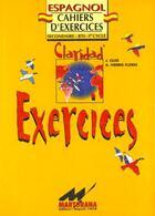 Couverture du livre « Claridad Exercices » de Feraud aux éditions Martorana