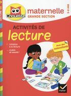 Couverture du livre « Chouette entraînement ; lecture ; grande section » de Jean Roullier et Albert Cohen aux éditions Hatier