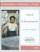 Couverture du livre « Zola l'assommoir » de Damour aux éditions Ellipses
