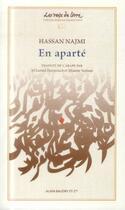 Couverture du livre « En aparté » de Hassan Najmi aux éditions Alain Baudry Et Compagnie