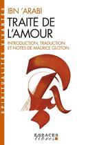 Couverture du livre « Traite de l'amour » de Ibn Arabi aux éditions Albin Michel