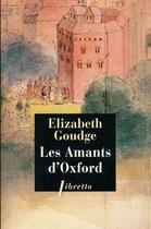 Couverture du livre « Les amants d'Oxford » de Elizabeth Goudge aux éditions Libretto