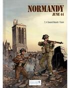 Couverture du livre « Normandie june 44 t.4 ; Sword Beach ; Caen » de Isabelle Bournier et Bruno Marivain et Djian aux éditions Vagabondages