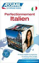 Couverture du livre « Perfectionnement italien » de Federico Benedetti aux éditions Assimil