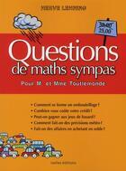 Couverture du livre « 50 questions de maths sympas pour M. et Mme toulemonde » de Herve Lehning aux éditions Ixelles