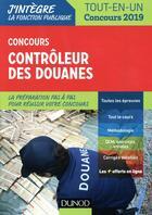 Couverture du livre « Concours contrôleur des douanes (édition 2018/2019) » de Pierre Beck aux éditions Dunod