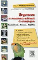 Couverture du livre « Urgences des nouveaux animaux de compagnie » de Guillon et Jean-Francois Quinton aux éditions Elsevier-masson