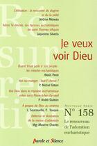 Couverture du livre « Je veux voir Dieu » de Revue Resurrection aux éditions Parole Et Silence