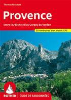 Couverture du livre « Provence ; entre Ardèche et les gorges de Vedon » de Thomas Rettstatt aux éditions Rother