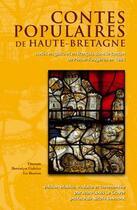 Couverture du livre « Contes populaires de Haute Bretagne » de Jean-Louis Le Craver aux éditions Dastum