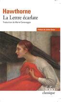 Couverture du livre « La lettre écarlate » de Nathaniel Hawthorne aux éditions Folio