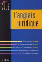 Couverture du livre « L'anglais juridique » de Peter Strutt aux éditions Belin