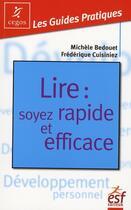 Couverture du livre « Lire : soyez rapide et efficace » de Bedouet/Cuisini aux éditions Esf Prisma