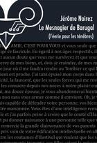 Couverture du livre « Féérie pour les ténèbres ; le mesnagier de Barugal » de Jerome Noirez aux éditions Le Belial
