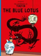 Couverture du livre « The blue lotus » de Herge aux éditions Casterman