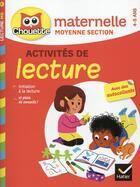 Couverture du livre « Chouette entraînement ; lecture ; moyenne section » de Jean Roullier et Albert Cohen aux éditions Hatier