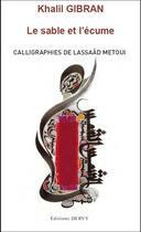 Couverture du livre « Le sable et l'écume » de Khalil Gibran aux éditions Dervy