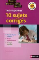 Couverture du livre « Tests d'aptitude IFIS ; 10 sujets corrigés » de Rachel Langlois aux éditions Nathan