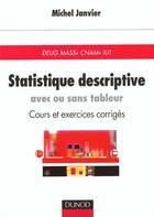 Couverture du livre « Statistique Descriptive - Avec Ou Sans Tableau » de Roland Janvier aux éditions Dunod
