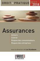 Couverture du livre « Assurances (édition 2017/2018) » de Luc Grynbaum aux éditions L'argus De L'assurance