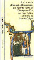 Couverture du livre « Rocamadour » de Jean Rocacher aux éditions Peregrinateur