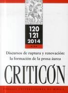 Couverture du livre « Discursos De Ruptura Y Renovacion La Formacion De La Prosa Aurea » de Marc Vitse aux éditions Pu Du Mirail