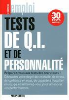 Couverture du livre « Tests de QI et de personnalité » de Carter Philip aux éditions Express Roulart
