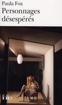 Couverture du livre « Personnages désespérés » de Paula Fox aux éditions Gallimard