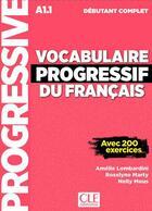 Couverture du livre « Vocabulaire progressif debutant complet + cd nouvelle couverture » de Lombardini Amelie aux éditions Cle International