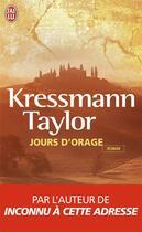 Couverture du livre « Jours d'orage » de Kathrine Kressmann Taylor aux éditions J'ai Lu