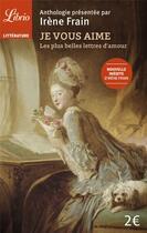 Couverture du livre « Je vous aime » de Irene Frain aux éditions J'ai Lu