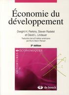 Couverture du livre « Économie du développement (3ème édition) » de Perkins aux éditions De Boeck Superieur