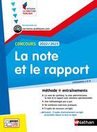 Couverture du livre « La note et le rapport (édition 2021) » de Pascal Tuccinardi aux éditions Nathan