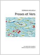 Couverture du livre « Proses et vers » de Germain Nouveau aux éditions Marguerite Waknine
