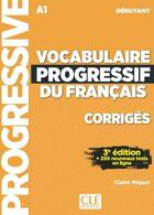 Couverture du livre « Vocabulaire progressif du français ; FLE ; A1 (3e édition) » de Collectif aux éditions Cle International