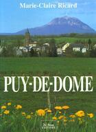Couverture du livre « Puy-De-Dome » de Marie-Claire Ricard aux éditions De Boree
