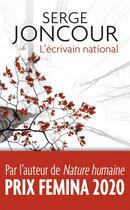 Couverture du livre « L'écrivain national » de Serge Joncour aux éditions J'ai Lu
