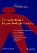 Couverture du livre « Introduction a la psychologie sociale » de Tapia aux éditions Organisation
