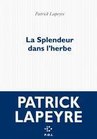 Couverture du livre « La splendeur dans l'herbe » de Patrick Lapeyre aux éditions P.o.l