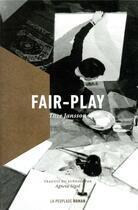 Couverture du livre « Fair-play » de Tove Jansson aux éditions La Peuplade