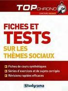 Couverture du livre « Fiches et tests sur les thèmes sociaux » de Agnes Busko aux éditions Studyrama
