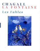 Couverture du livre « Les fables de La Fontaine illustrées par Chagall » de Ambre Gauthier aux éditions Hazan