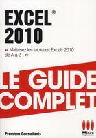 Couverture du livre « Excel 2010 » de Pierre Polard aux éditions Micro Application