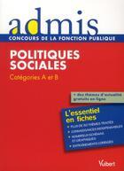 Couverture du livre « Politiques sociales ; catégories A et B » de Christelle Jamot-Robert aux éditions Vuibert